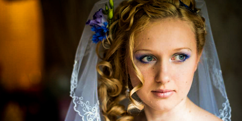 Wedding makeup for blonde hair blue eyes